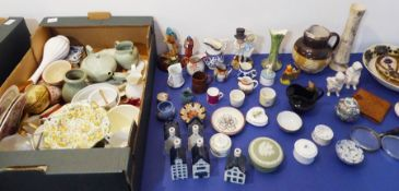 Various small decorative ornamental ceramics to include miniature jugs, teawares, cups and