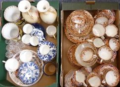 A good selection of ceramics to include two late 19th century hand-tinted and gildedtea services, a