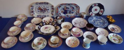 A selection of mostly early to mid-19th century ceramics:a mid-19th century Mason's Ironstone