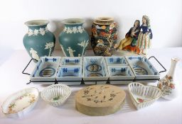 A good selection of ceramics to include a pair of Dudson vases, a Japanese Kyoto-style vase and a
