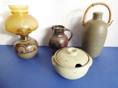 A group of four 1970-1990 Winchcombe Pottery stonewares including work by Don Jones and Ray Finch;