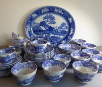 A large quantity of mostly Spode 'Italian' pattern ceramics; to include cups, saucers, a teapot,