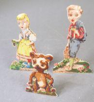 Three Art Deco period Wade porcelain Snippet figures: Hansel (No.4) (6.5cmhigh), Gretel (No.5)