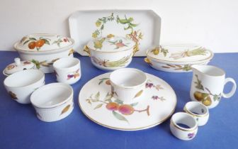 A good selection of various Royal Worcester ceramic kitchenware etc. (mostly Evesham pattern) to