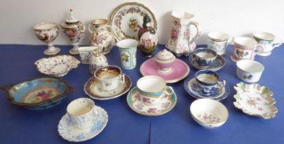 A selection of ornamental and decorative ceramics: to include Crown Staffordshire Fine Bone China, a