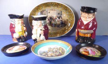 A hand-decorated Royal Doulton porcelain character jug circa 1950 'The Huntsman' (D 6320),