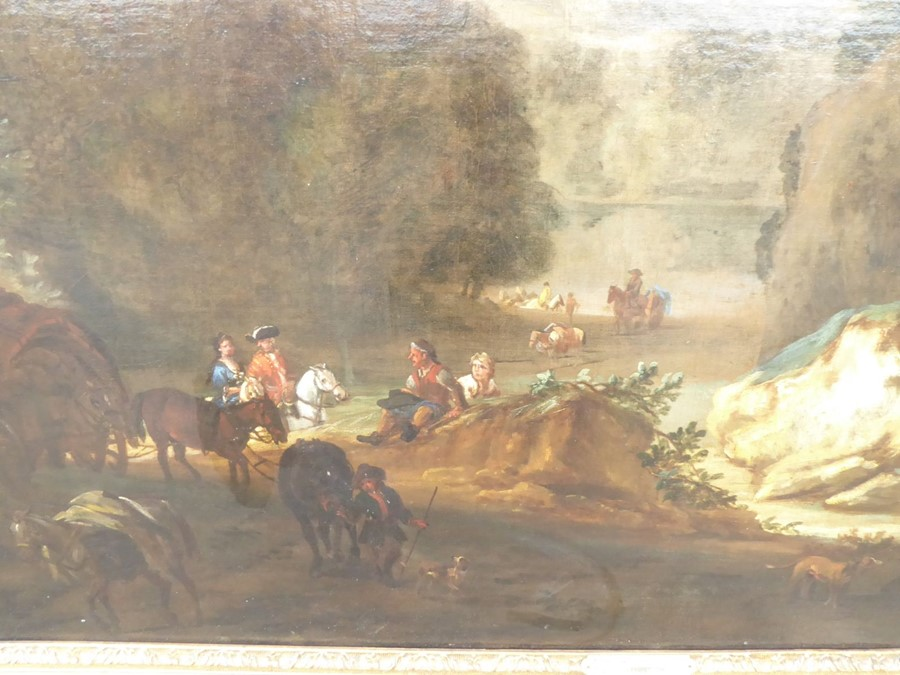 John Wootton ( British 1678-1764) - 'A Romantic Landscape',signed oil on canvas,39 x 54 ins (99 - Image 3 of 21