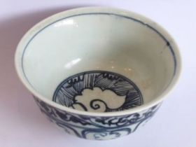 Acirca 15th centuryChinese porcelain bowl of pleasing proportions; the interior decorated with a