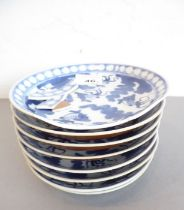 Qing Dynasty, Daoguang - an early to mid 19th century set of eight Chinese porcelain dishes