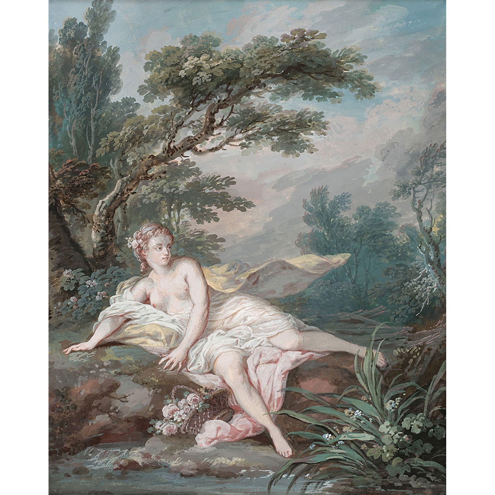 ÉCOLE FRANÇAISE DU XVIIIe SIÈCLE, ENTOURAGE DE JACQUES CHARLIER - Bild 2 aus 3