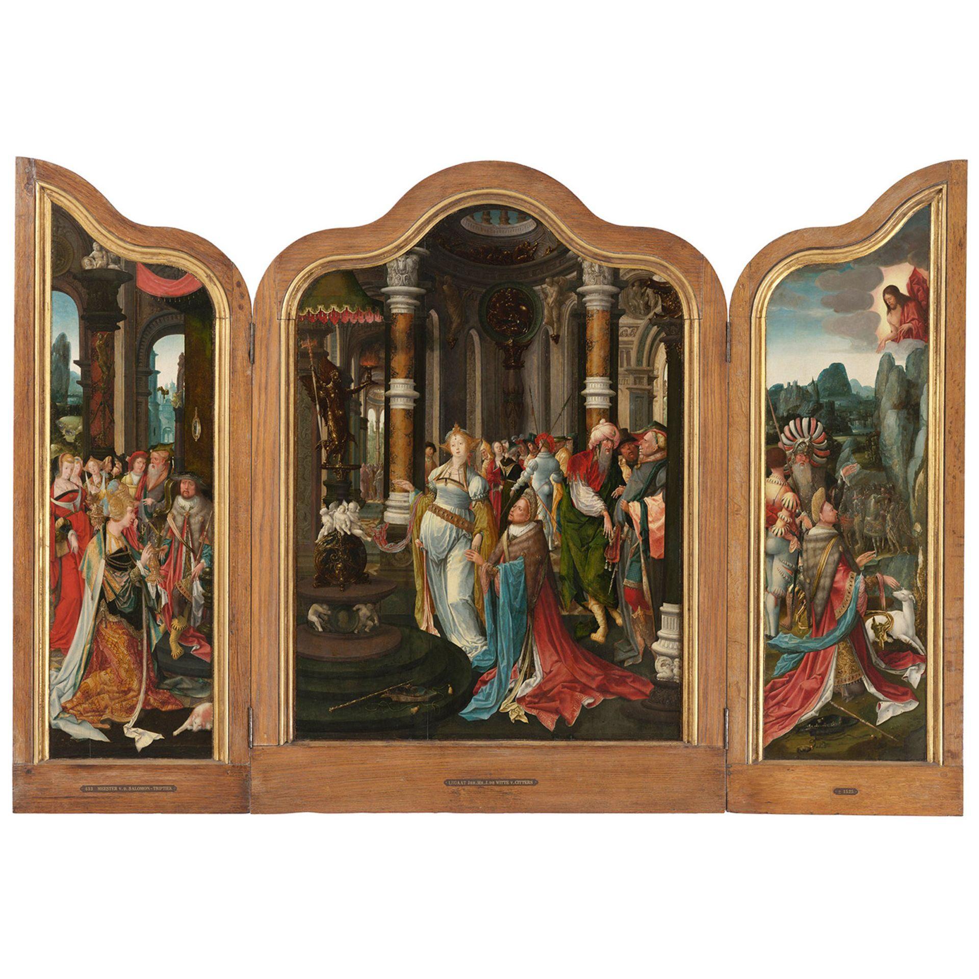 MAÎTRE DU TRIPTYQUE SALOMON (actif en Zélande vers 1520) - Bild 2 aus 3