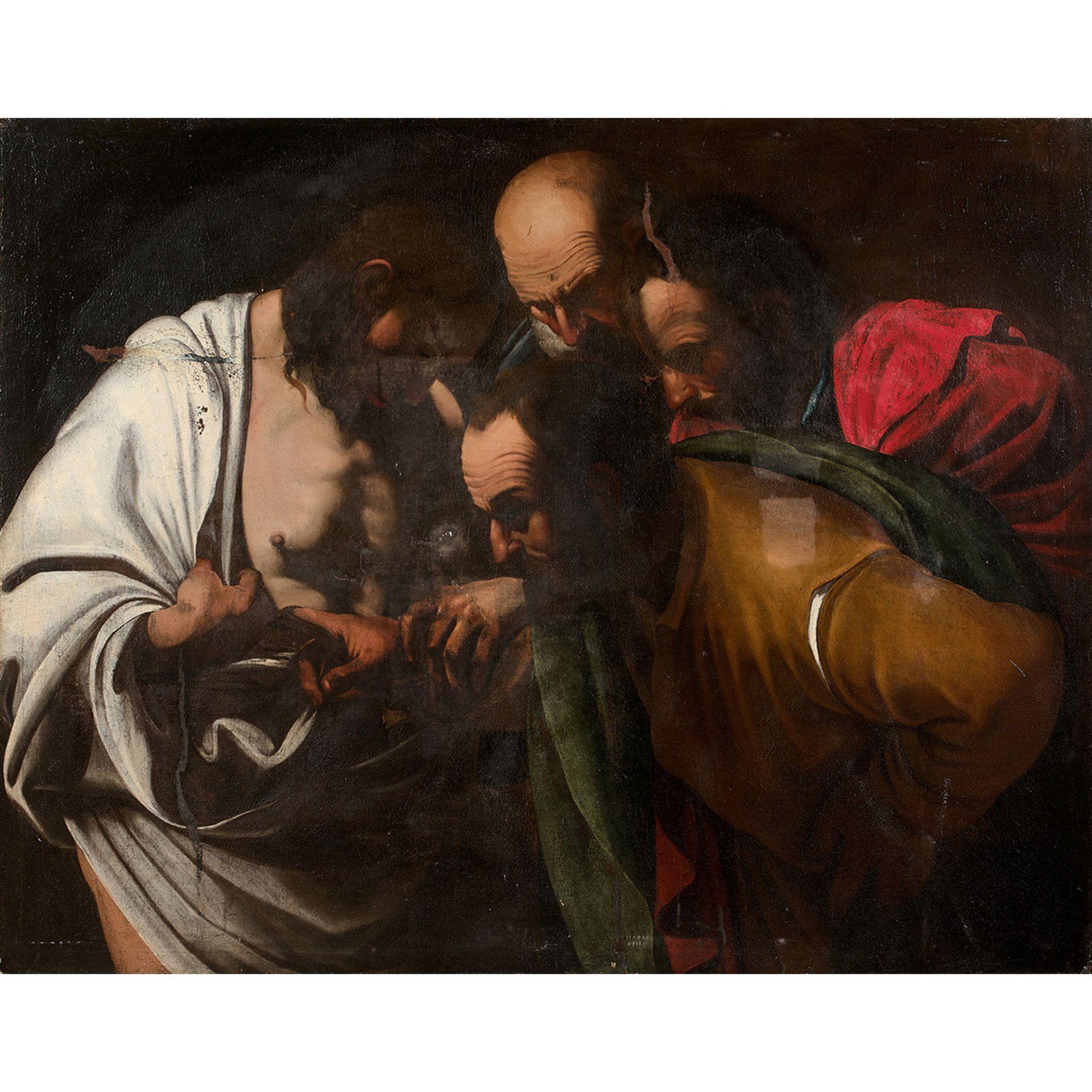 ÉCOLE ROMAINE VERS 1620, D'APRÈS CARAVAGGIO