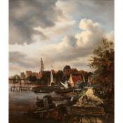 École française vers 1820, d'après Jacob van Ruisdael