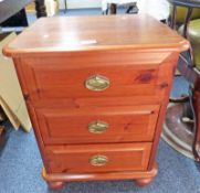 PINE CHEST OF 3 DRAWERS,