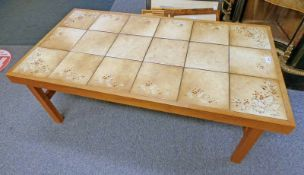 TILE TOPPED TABLE BY TRIOH DENMARK LENGTH 126 CM