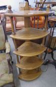 ERCOL ELM 5 TIER WHATNOT 126 CM TALL