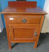 EARLY 20TH CENTURY OAK CABINET WITH DRAWER & PANEL DOOR