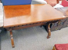 LATE 19TH CENTURY GOTHIC STYLE PINE TABLE WITH X-FRAME SUPPORTS 107CM LONG