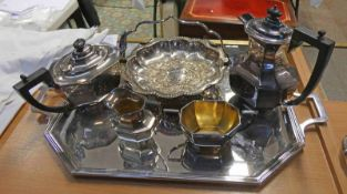 SILVER PLATED SALVER,