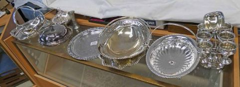 SILVER PLATED EGG EPERGANE SILVER PLATED BASKETS,