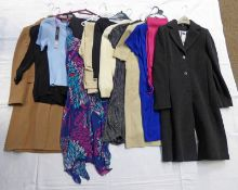 SELECTION OF LADIES DRESSES, TOPS, TROUSERS & COATS FROM M&S , PRINCIPLES,