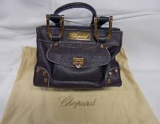 "NEW CHOPARD BROWN LEATHER ""CAROLINE"" HAPPY DIAMOND SATCHEL"