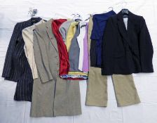 SELECTION OF LADIES TROUSER SUIT, COATS, TOPS & CASHMERE KNITWEAR FROM M&S,