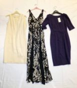 NEW NAVY & WHITE HOBBS MAXI DRESS SIZE8, NEW PLUM L.K.