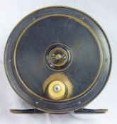 """ALL BRASS 4"""" REEL WITH RAISED CHECK HOUSING"""