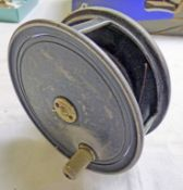ARMY AND NAVY 4 1/2 INCH UNIQUA STYLE ALLOY REEL WITH BRASS FOOT