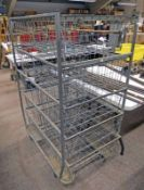 METAL TROLLEY WITH 10 SLIDING BASKETS
