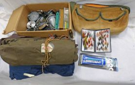 MITCHELL 300 SPINNING REEL, CORTLAND GRAPHITE REEL, HARDY PLASTIC FLY BOX,