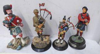 4 SCOTTISH SOLDIER FIGURES,