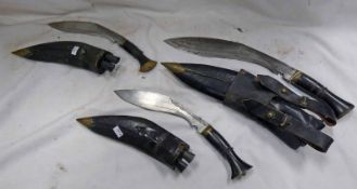 3 KUKRIS WITH SCABBARDS