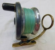 """4"""" MALLOCH'S PATENT SIDE-CASTING REEL OF ALLOY AND BRASS"""