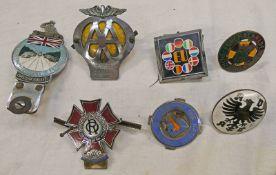 NATIONAL MOTORISTS ASSOCIATION CAR BADGE, THE ORDER OF THE ROAD KNIGHT COMMANDER CAR BADGE,