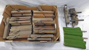SELECTION OF WOODEN WOOD WORKING PLANES IN ONE BOX