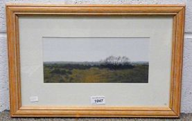 RODGER INSH, MONTROSE FROM THE NORTH, SIGNED & DATED 1991, FRAMED GOUACHE,