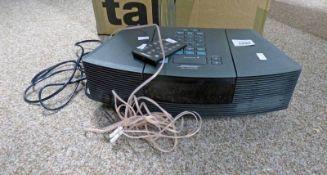 BOSE WAVE RADIO/CD & CONTROL Condition Report: Sold as seen. No guarantee.