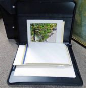 2 ARTISTS CASES WITH LARGE SELECTION OF PHOTOGRAPHS BY AWJ