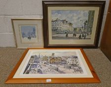 PRINT DUNDEE IN THE 1950'S SIGNED DOUGLAS PHILLIPS NO 21 OF 850 23 X 22CM,