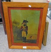 MAPLE FRAMED PRINT ON GLASS FOOT SOLDIER - 41 X 29 CM