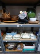 SELECTION OF VARIOUS PORCELAIN ETC INCLUDING GREEN POTTERY VASE,