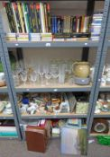 LARGE SELECTION OF GLASSWARE, CLASSICAL RECORDS,