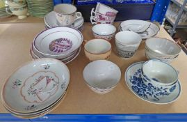 EXCELLENT SELECTION OF LATE 18TH & EARLY 19TH CENTURY BLUE & WHITE PORCELAIN,