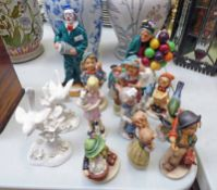 ROYAL DOULTON 'THE OLD BALLOON SELLER', MINI 'THE BALLOON SELLER' AND 'WILL HE - WONT HE?',