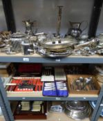 LARGE SELECTION OF VARIOUS SILVER PLATED WARE,