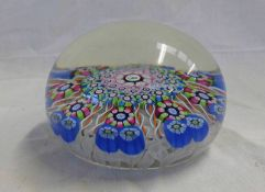 PERTHSHIRE PAPERWEIGHT WITH THISTLE CENTRE DECORATION - 7.