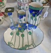 SELECTION OF ROYAL DOULTON POPPIES PATTERN D3226 PORCELAIN: CANDLESTICK,