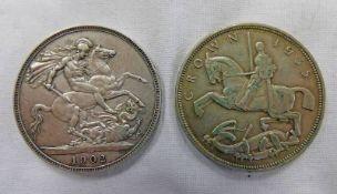 1902 EDWARD VII CROWN & 1935 GEORGE V CROWN